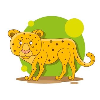 Mão desenhada ilustração leopardo africano