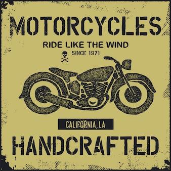 Mão desenhada ilustração moto vintage