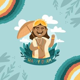 Mão desenhada ilustração oname indiano