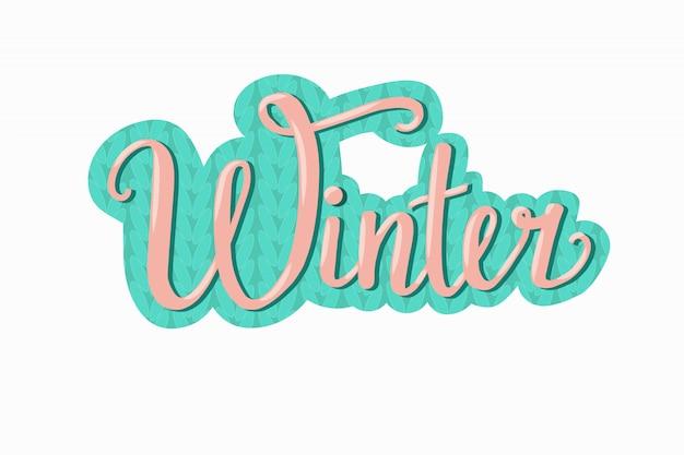 Mão desenhada ilustração vetorial de inverno, etiqueta