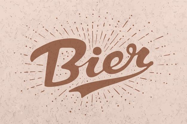 Mão desenhada letras cerveja