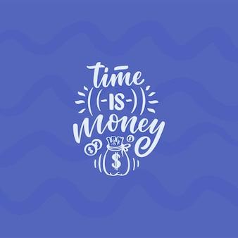 Mão desenhada letras citação no estilo de caligrafia moderna sobre dinheiro. slogan para impressão e design de cartaz. ilustração vetorial