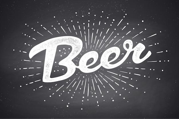 Mão desenhada letras de cerveja