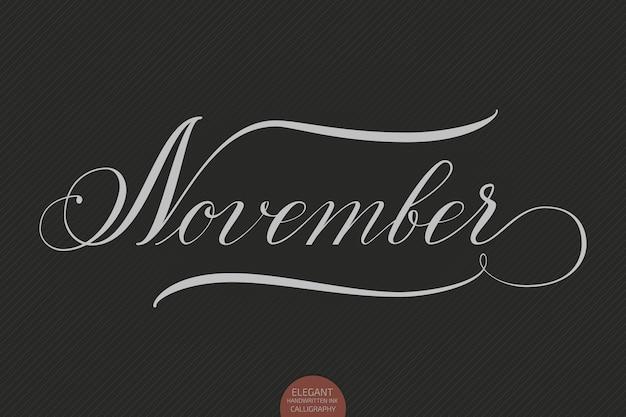 Mão desenhada letras de novembro.