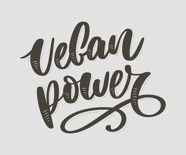 Mão desenhada letras vegan.