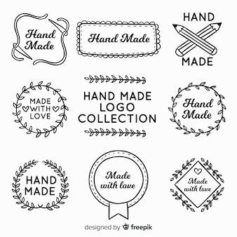 Mão desenhada logotipo feito à mão