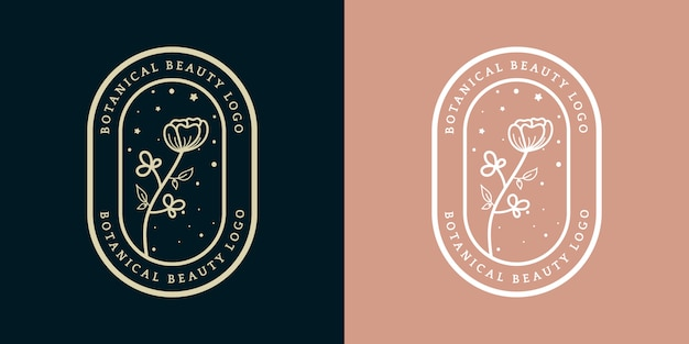 Mão desenhada luxo feminino royal floral logotipo modelo distintivo adequado adequado para hotel restaurante café cafeteria spa salão de beleza luxo boutique cosméticos e decoração de negócios