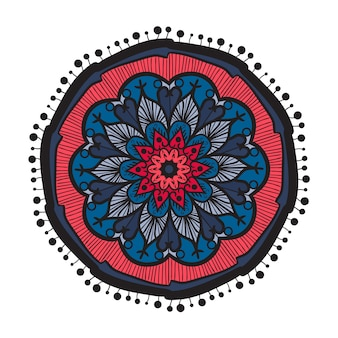 Mão desenhada mandala em estilo de decoração de cultura árabe, indiano, islã e otomano