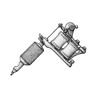 Mão desenhada máquina de tatuagem