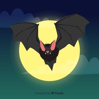 Mão desenhada morcego de halloween