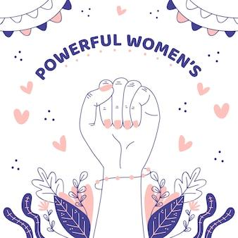 Mão desenhada mulheres poderosas