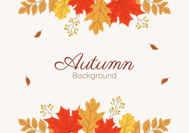 Mão desenhada outono papel de parede banner template vector
