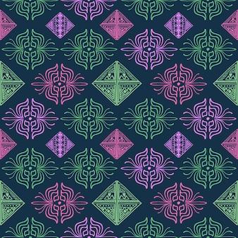 Mão desenhada padrão abstrato multicolor