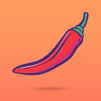 Mão desenhada pimenta vermelha