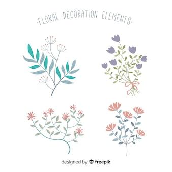 Mão desenhada plantas coleção