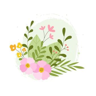 Mão desenhada primavera flor botânica ilustração floral
