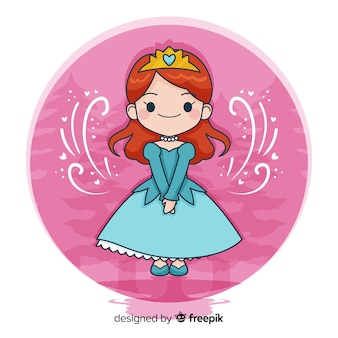 Mão desenhada princesa fundo