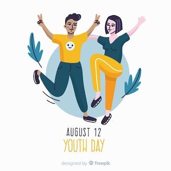 Mão desenhada projeto juventude dia fundo