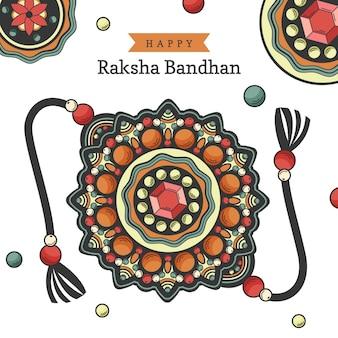 Mão desenhada raksha bandhan