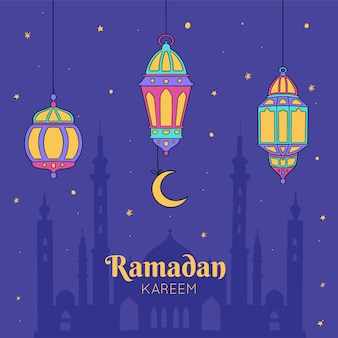 Mão desenhada ramadan kareem