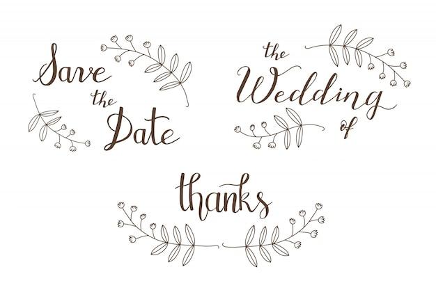 Mão desenhada save the date