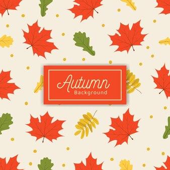 Mão desenhada sem costura padrão de outono com fundo branco
