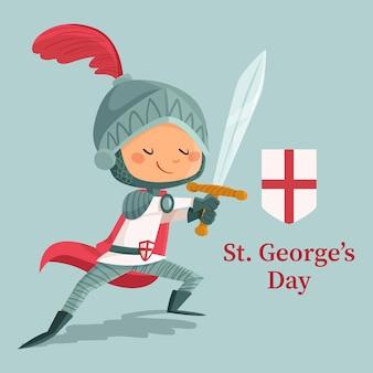 Mão desenhada st. ilustração do dia de george