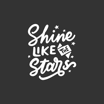 Mão desenhada tipografia citações motivacionais e inspiradoras