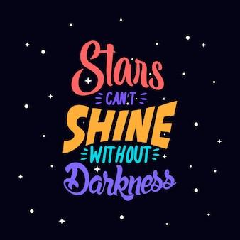 Mão desenhada tipografia motivacional citações inspiradoras