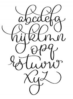 Mão desenhada vintage letras