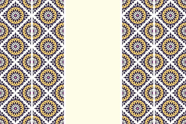 Mão desenhada vintage mandala padrão sem emenda