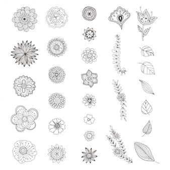 Mão desenhada zentangle doodle ilustração para livros de colorir de adulto
