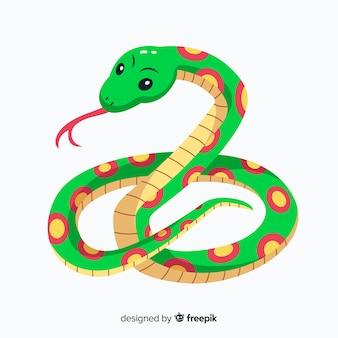 Mão, desenhado, cobra, ilustração