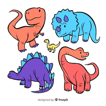 Mão, desenhado, dinossauro, cobrança