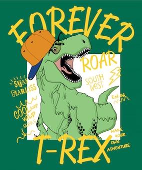 Mão, desenhado, dinossauro, ilustração