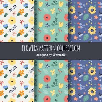 Mão, desenhado, flor, padrão, cobrança
