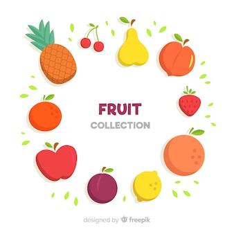 Mão, desenhado, fruta, cobrança