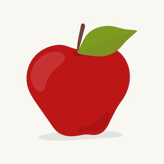 Mão, desenhado, fruta maçã, ilustração