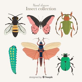 Mão, desenhado, inseto, cobrança