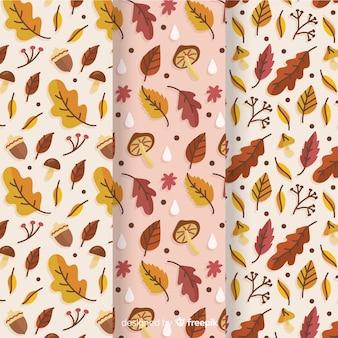 Mão, desenhado, outono, padrão, cobrança