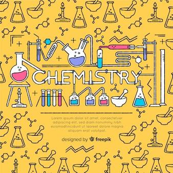 Mão, desenhado, química, fundo