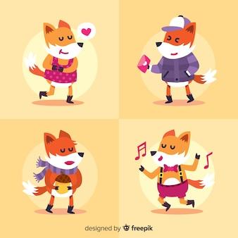 Mão, desenhado, raposa selvagem, cobrança