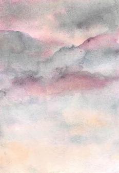 Mão desenhar aquarela abstrata em tons pastel