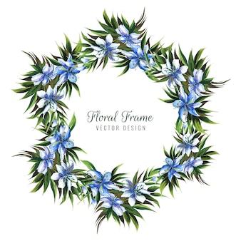 Mão desenhar cartão floral decorativo colorido de casamento