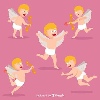 Mão desenhar coleção de anjo do dia dos namorados