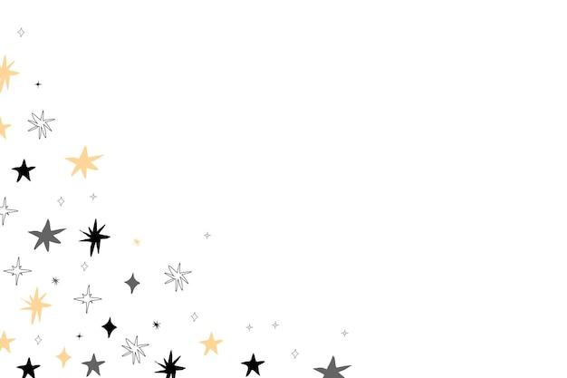 Mão desenhar padrão de estrelas