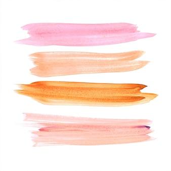 Mão desenhar vetor de aquarela colorida de traçado
