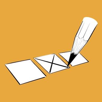 Mão, desenho, ilustração, de, eleição, conceito