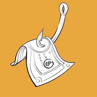 Mão, desenho, ilustração, de, finanças, conceito