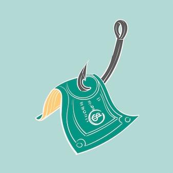 Mão, desenho, ilustração, de, finanças, concet